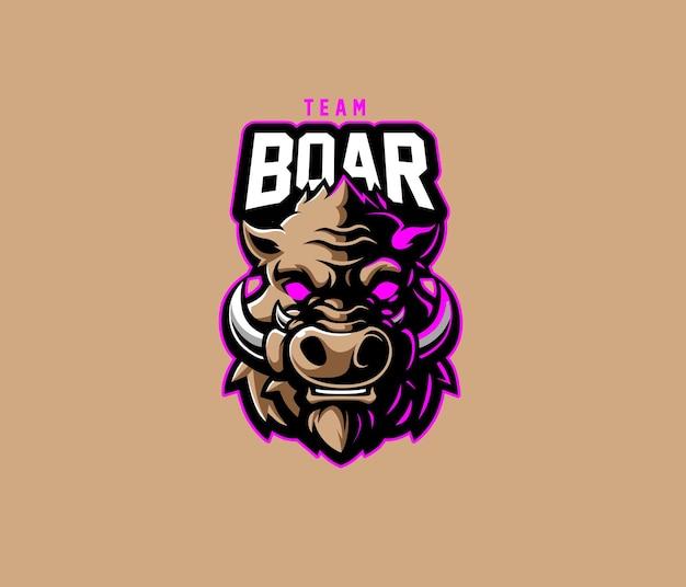 Logo boar team esport
