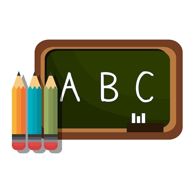 Lavagna a matita alfabeto