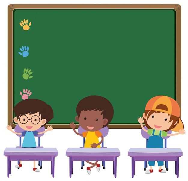 Consiglio e bambini in classe Vettore Premium