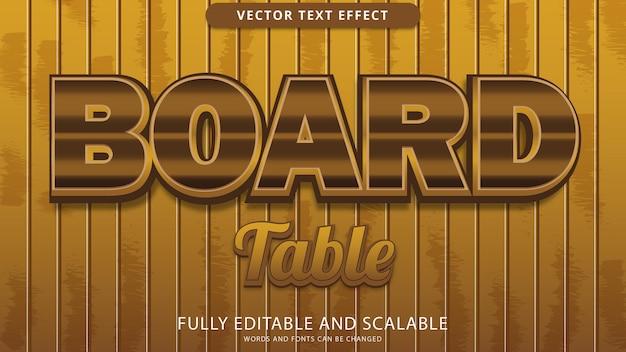 Effetto testo tabella bordo modificabile