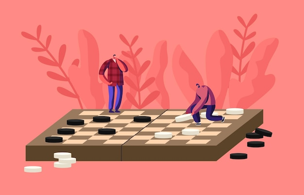 Ricreazione di intelligenza del gioco da tavolo, illustrazione di hobby