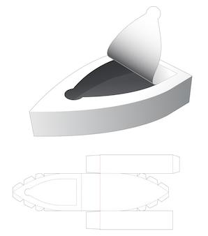 Vassoio a forma di barca con cerniera fustellata modello