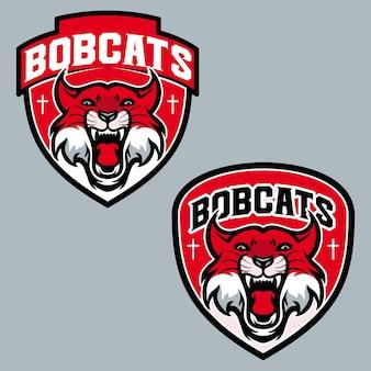 Scudo distintivo di bobcats sport