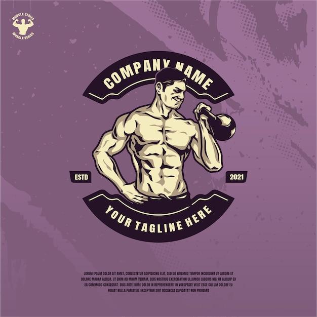 Illustrazione del modello di fitness bodybuilder