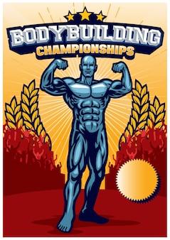 Locandina dell'evento di bodybuilding