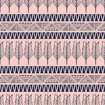 Motivo tribale bohemien con piuma