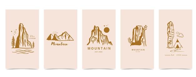 Sfondo boho per i social media con montagna,naturale