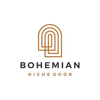Logo bohémien della porta di nicchia boho