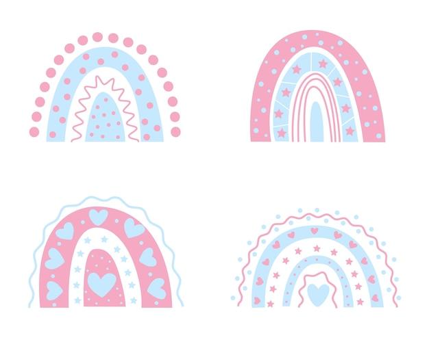 Arcobaleno boho arcobaleno per bambini per decorare la nascita di un ragazzo e una ragazza