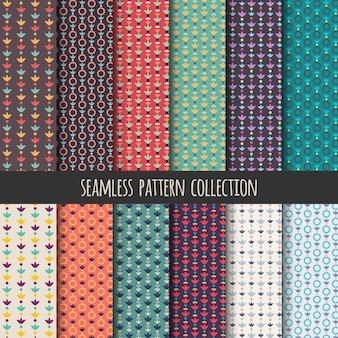 Collezione senza soluzione di continuità boho. priorità bassa geometrica delle bande decorative. astratto colorato carta da parati, fondale.