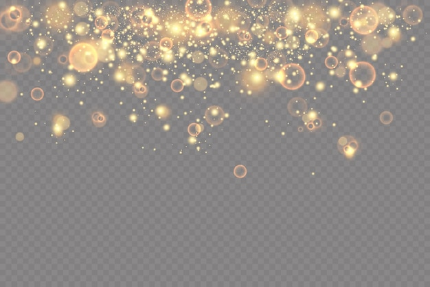 Sfondo bokeh con scintillii effetto luce particelle luminose.
