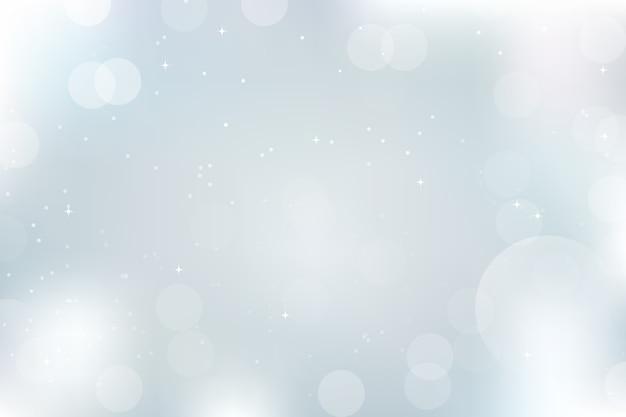 Bokeh sfocato luci e neve