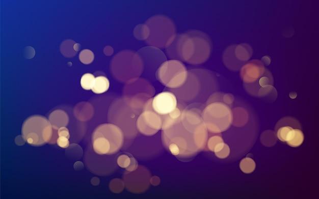 Effetto bokeh. elemento di scintillio dorato caldo incandescente di natale per il tuo design. illustrazione Vettore Premium