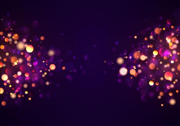 Effetto bokeh. scintillanti particelle di polvere magica.