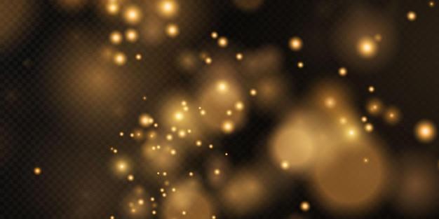Sfondo effetto luci bokeh sfondo natalizio di polvere splendente bokeh natalizio incandescente