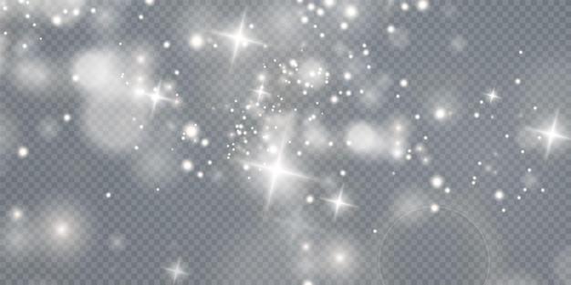 Sfondo effetto luci luci bokeh sfondo natalizio di polvere splendente luce natalizia incandescente