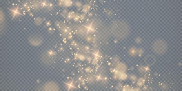 Sfondo effetto luci luci bokeh sfondo natalizio di polvere brillante