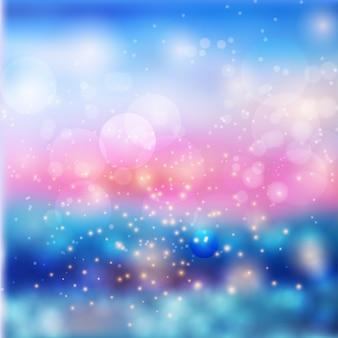 Effetto luci di bokeh su sfondo colorato sfumato