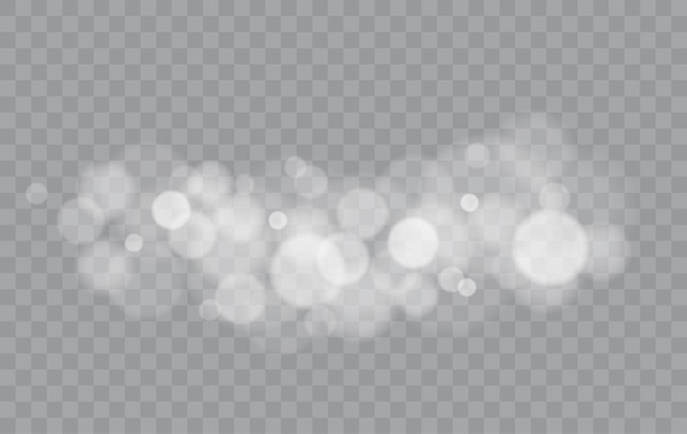 Bokeh luci isolate forme sfocate trasparenti effetto luce astratta