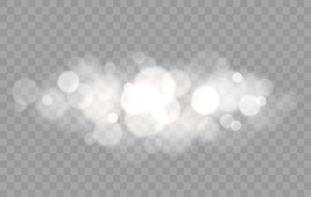 Bokeh luci sovrapposizione isolato forme sfocate effetto di luce astratta