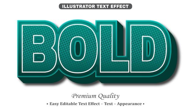 Grassetto effetto stile testo modificabile 3d