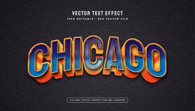 Grassetto stile di testo blu e arancione con effetto involucro di plastica