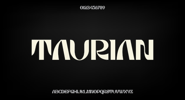 Carattere audace ed elegante, design tipografico moderno. alfabeto