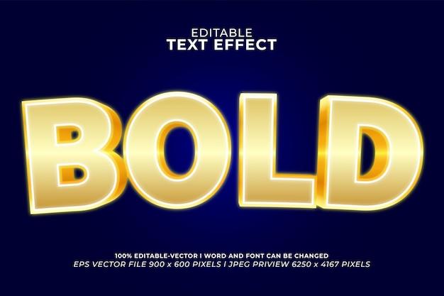 Grassetto in effetto testo 3d oro