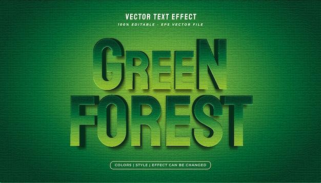 Grassetto effetto stile testo foresta verde