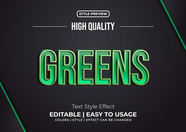 Stile grassetto verde con effetto goffrato