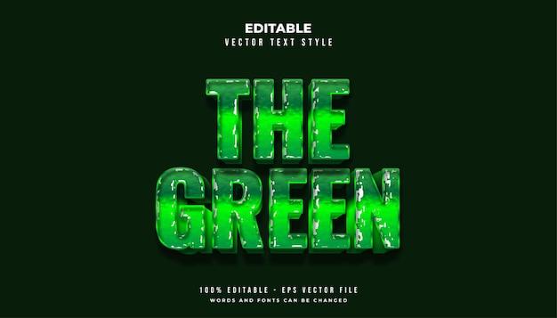 Grassetto stile testo verde con effetto carta strappata
