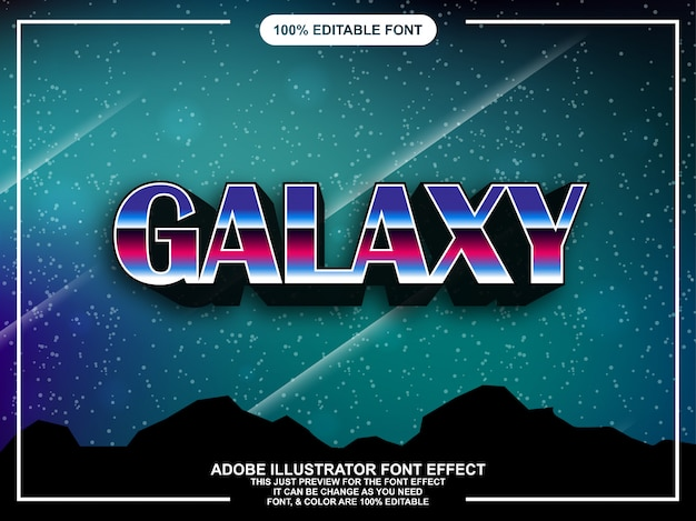 Carattere modificabile di stile grafico galassia moderna audace