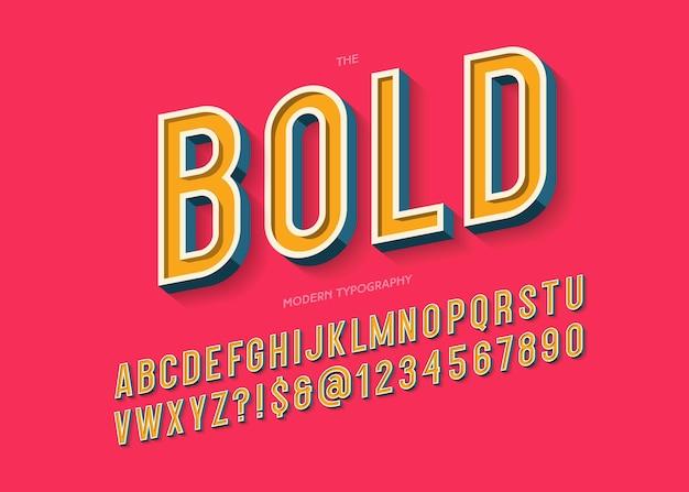 Grassetto tipografia moderna colorato stile 3d