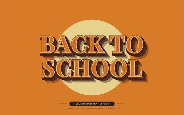 Grassetto arancione effetto di testo in stile vintage