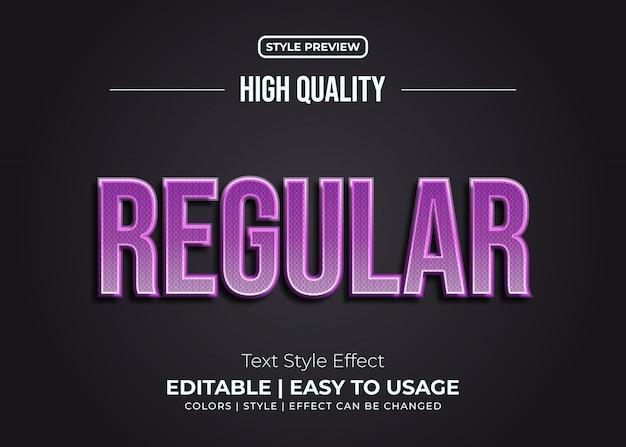 Effetto grassetto viola di stile del testo con il concetto semplice