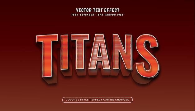 Bold titans effetto di testo