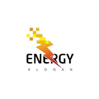 Modello di logo bolt energy