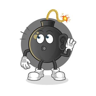 Bomba che ascolta l'illustrazione