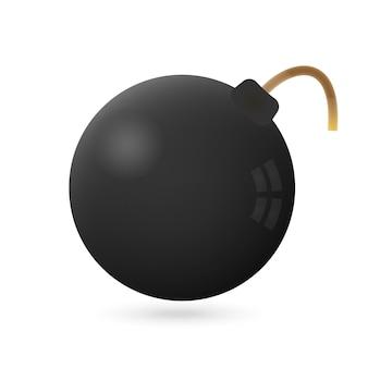 Icona della bomba su un bianco. illustrazione vettoriale