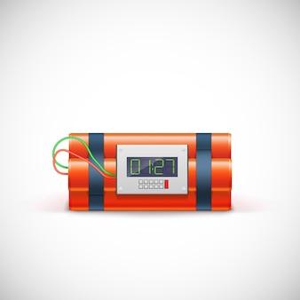 Bomba con orologio digitale.