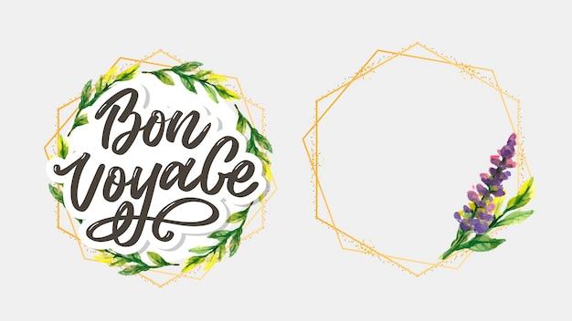 Bon voyage hand lettering calligraphy travel