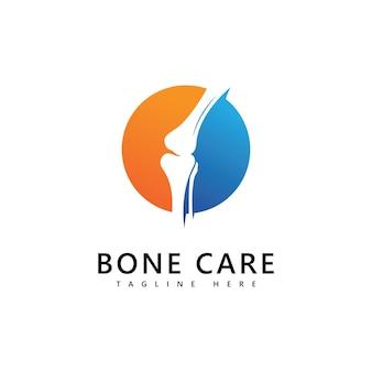 Modello di vettore dell'icona del logo dell'osso