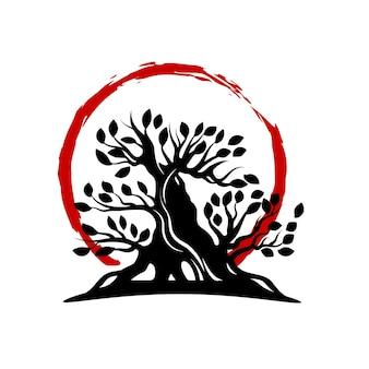 Disegno del logo bonsai