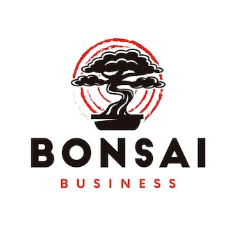 Logo dell'albero dei bonsai