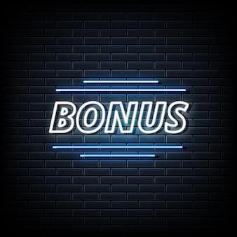 Testo al neon bonus, modello in stile neon