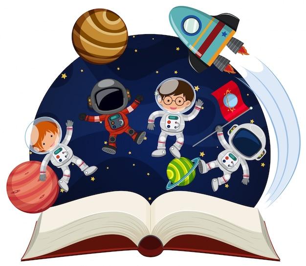 Prenota sull'astronomia con astronauti e pianeti