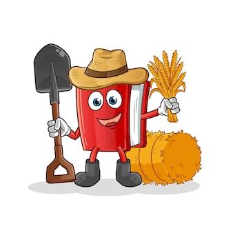 Prenota personaggio dei cartoni animati contadino mascotte