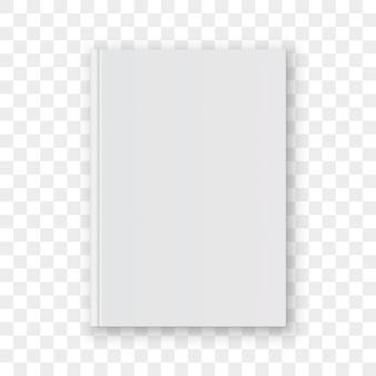 Modello di progettazione verticale bianco in bianco della copertina di libro.