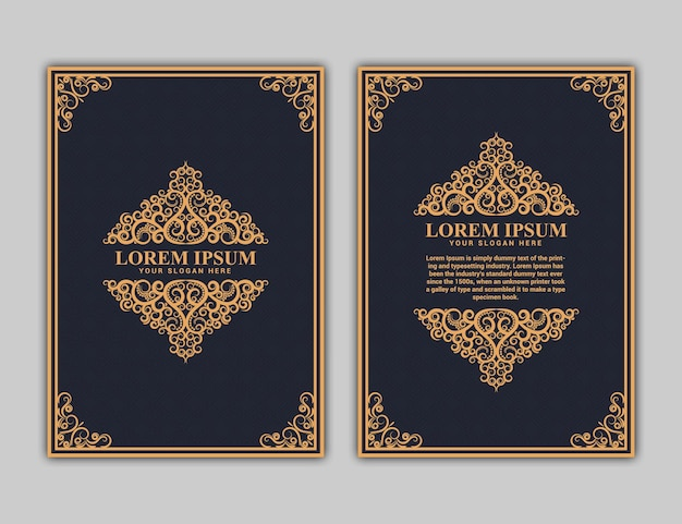 Disegno della copertina del libro in formato a4. relazione annuale. progettazione dell'opuscolo. modello semplice. volantino, promozione