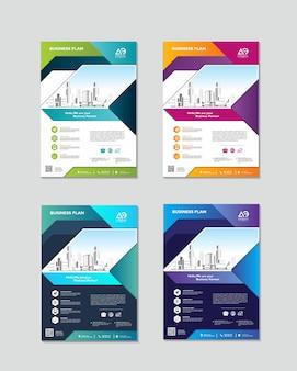 Modello di progettazione della copertina del libro in a4 facile da adattare alla relazione annuale della brochure